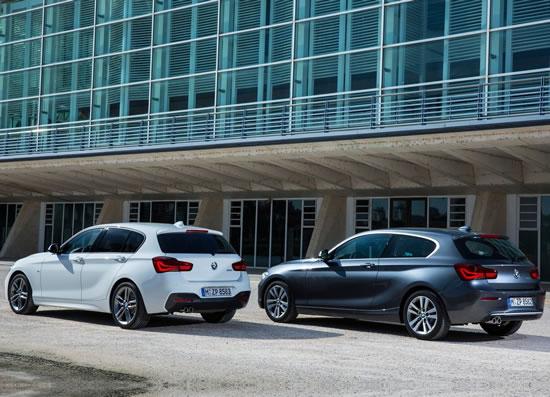 BMW新型1シリーズのバリエーション画像、ハッチバックモデルではいつもの事だが本国では3ソアもあるのだが日本には入ってこない3ドアモデル、後部ドアがあるかないかで全く同じ造形を見せているのは見事だ、画像はネット上から拝借