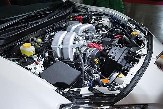 GRMN86のエンジン画像、オートサロン時のもの、エンジンに関しては全く情報が無い、NAらしく軽い吹け上がりで高回転型少しパワーが上積みされていたらうれしい、画像はメーカーサイトより拝借