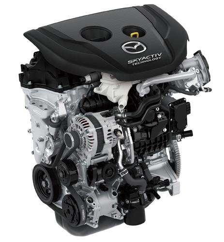 SKYACTIV-D1.5ディーゼルエンジンの外観、今回CX-3に搭載するにあたってかなりの新技術を投入している、画像はネット上から拝借