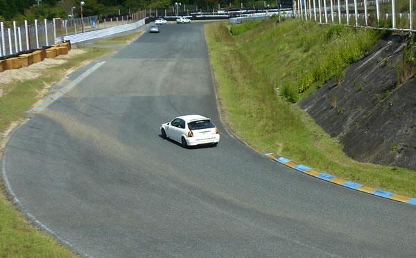 前回のEK9でのセントラルサーキット走行の図