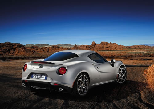 「Alfa Romeo 4C」のリア画像