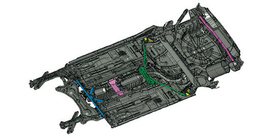 日産ノート「NISMO S」のボディー補強画像
