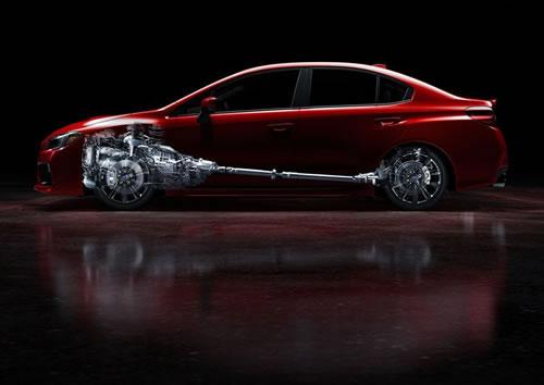 スバル新型「WRX」のサイド画像&透視図