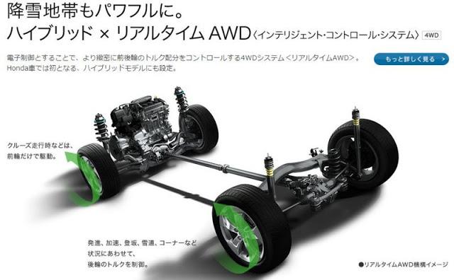 ホンダ新型「ヴェゼル」の4WD解説画像