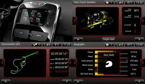 「Clio RS 200 EDC」のディスプレー画像