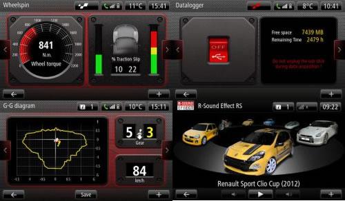 「Clio RS 200 EDC」のRモニター画像その2