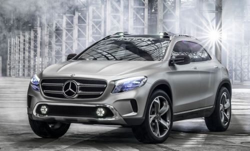 Mercedes-Benz「GLAコンセプト」のフロント部分