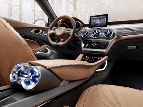 Mercedes-Benz「GLAコンセプト」のセンターコンソール部分