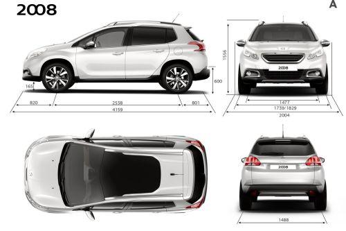 「Peugeot 2008 Crossover」のサイズ