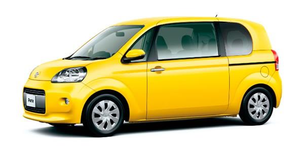 新型ポルテには黄色の設定がある、最近のトヨタは黄色好き