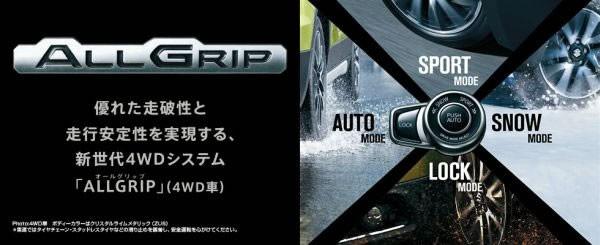 スズキ新型「SX4 S-CROSS」の「ALL GRIP」と呼ばれる4WDシステム