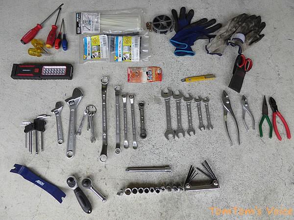 管理人の遠征用工具セットの中身