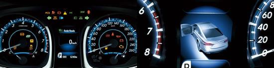 トヨタ「アバロン」メーターパネル画像
