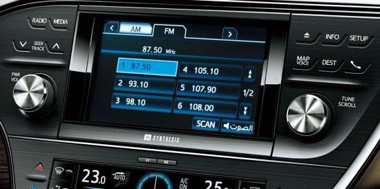 トヨタ「アバロン」インパネセンターのアップ画像