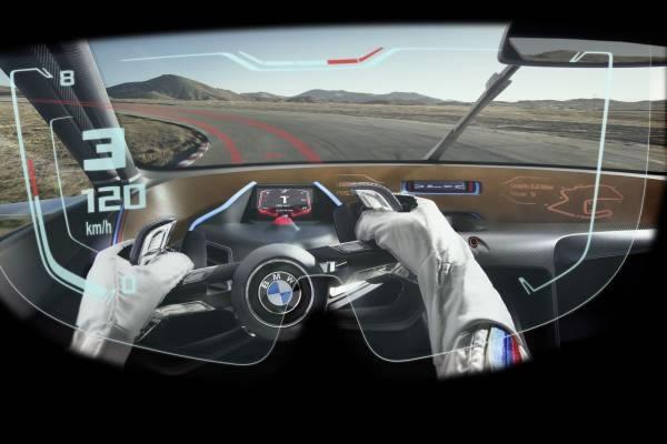「BMW 3.0 CSL Hommage R」でのドライバーからの視界