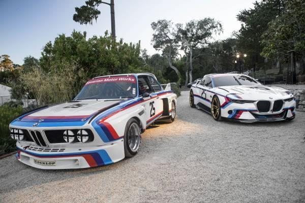 元となった「BMW 3.0 CSL」と「BMW 3.0 CSL Hommage R」のフロント画像その2