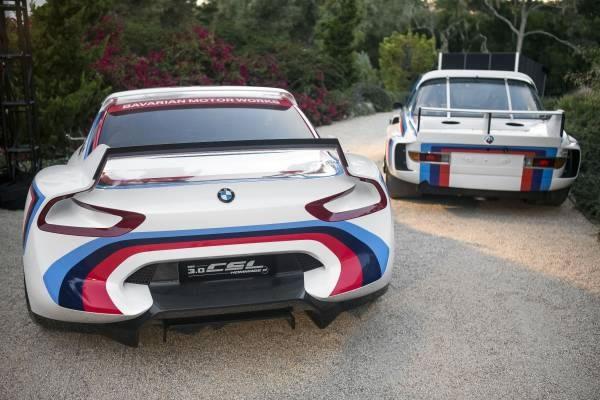 元となった「BMW 3.0 CSL」と「BMW 3.0 CSL Hommage R」のリア画像