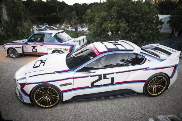 元となった「BMW 3.0 CSL」と「BMW 3.0 CSL Hommage R」のサイド画像