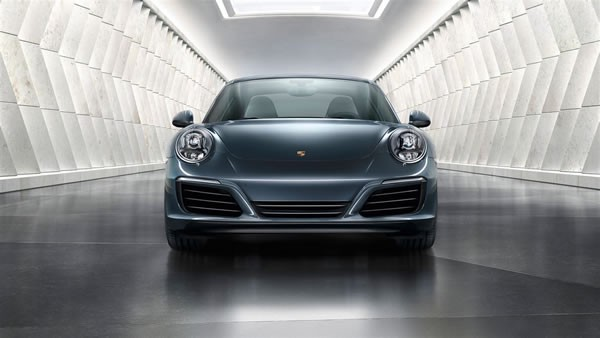ポルシェ新型911のフロント画像