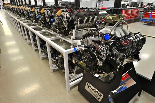 NASCAR用のシボレーのエンジン