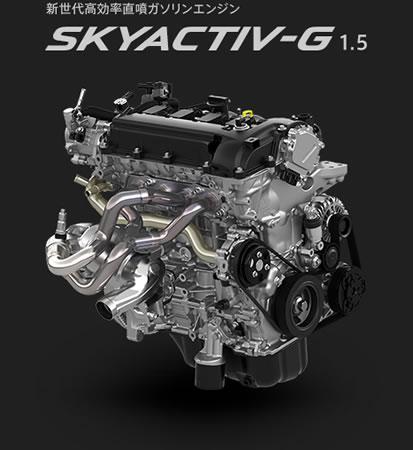 DJデミオ15MBのエンジン