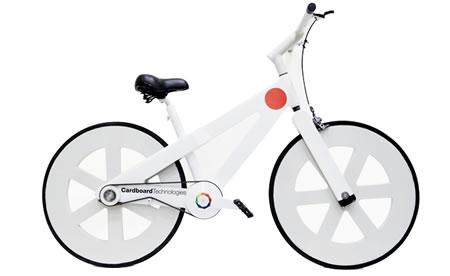 段ボールの自転車
