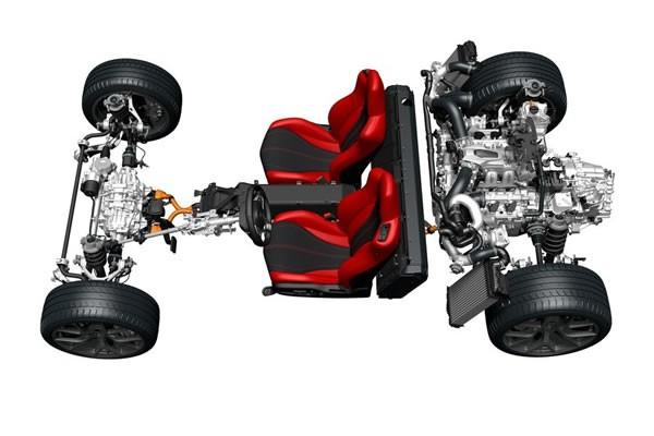 新型NSXのレイアウト画像
