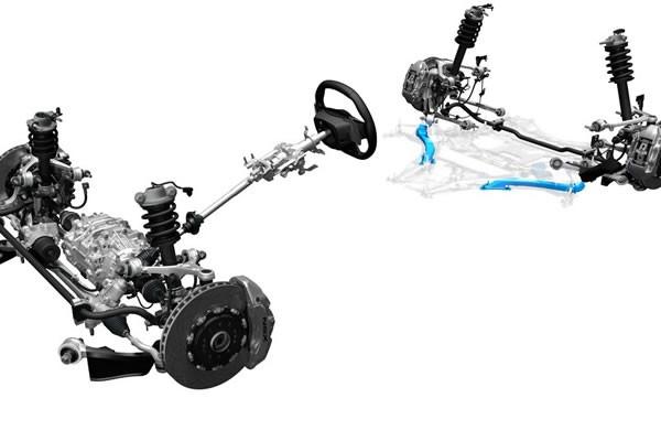 新型NSXのサスペンション画像