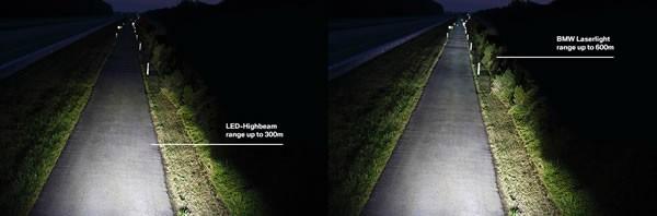 新型7シリーズのレーザーライト画像