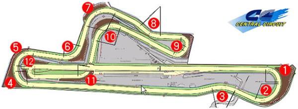 セントラルサーキットコース図