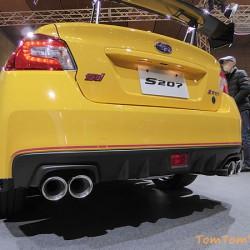 スバル「S207」は高価なだけに仕上げは上々だった 大阪モーターショー2015にて