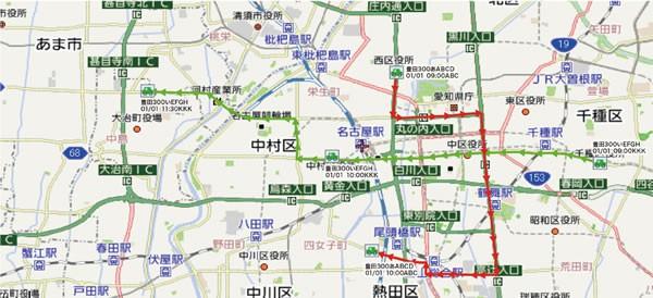 「TransLog」の地図表示画面