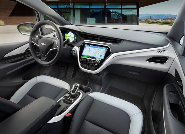 「Bolt EV」のフロントシート画像