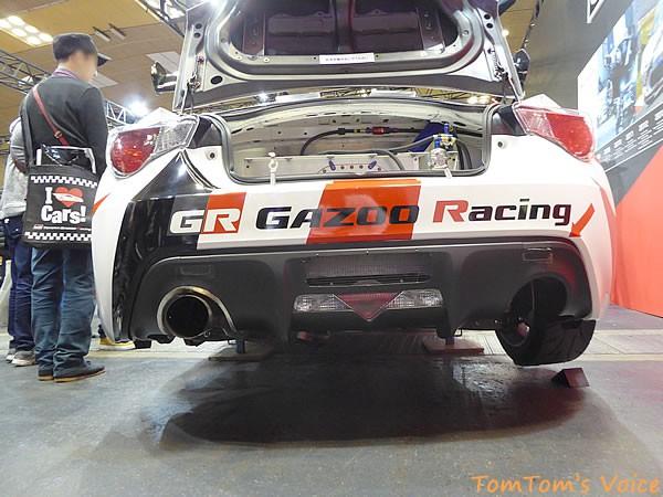 大阪オートメッセ2016でのトヨタGRMN86ニュル仕様車のリア画像