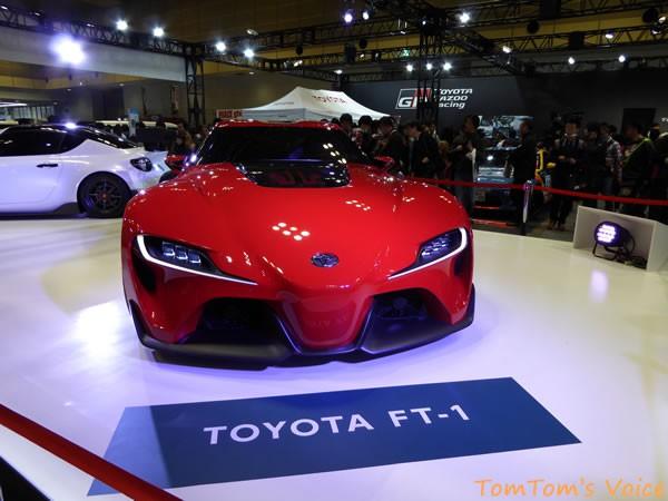 大阪オートメッセ2016でのトヨタFT-1 フロント画像