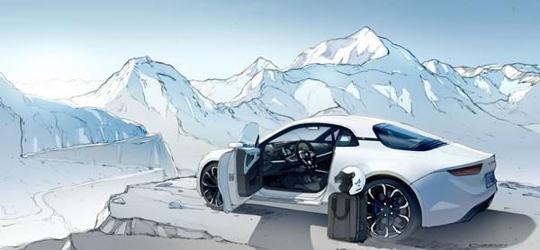 「Alpine Vision」のイメージデザイン