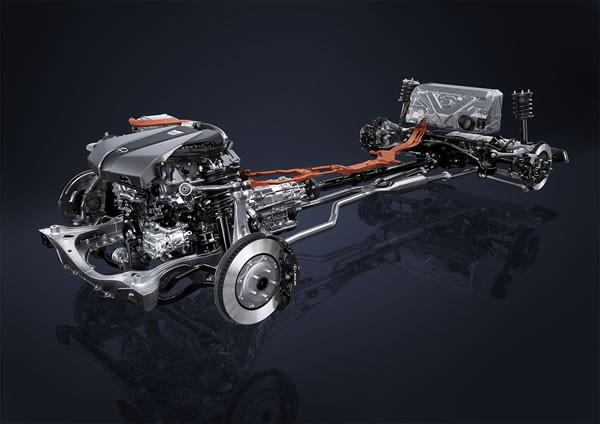 LC500hのパワートレーン