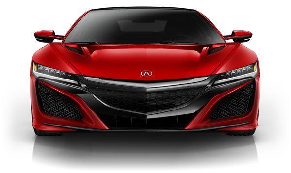 新型NSXのフロント画像(赤)