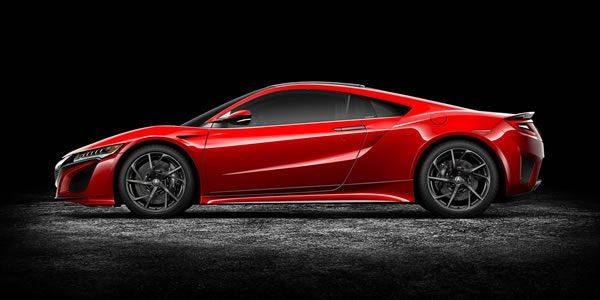 新型NSXのサイド画像