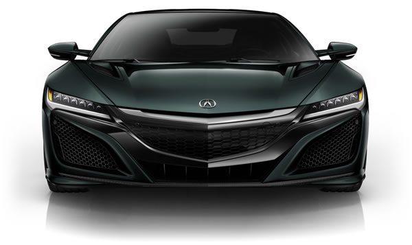 新型NSXのフロント画像(グレイ)