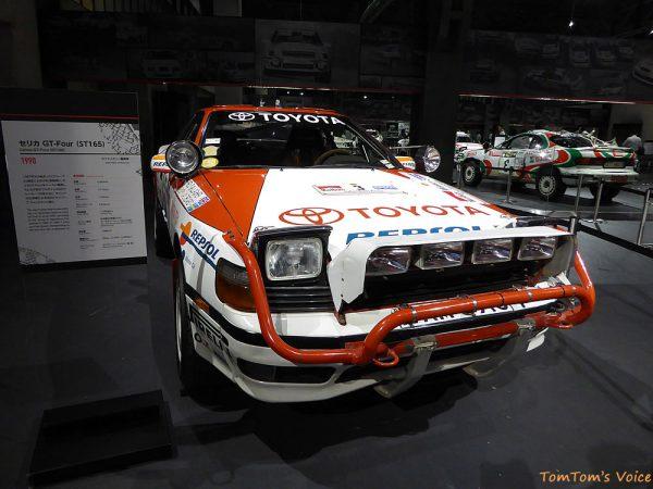 トヨタヒストリックガレージで展示中の1990年ST165セリカ