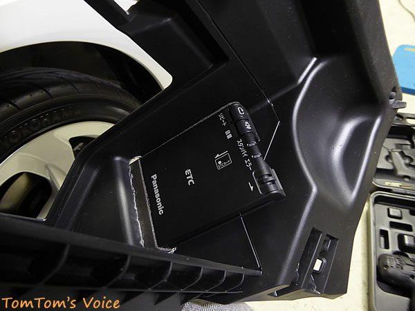 S660のグローブボックスに穴をあけてETC本体を取り付け