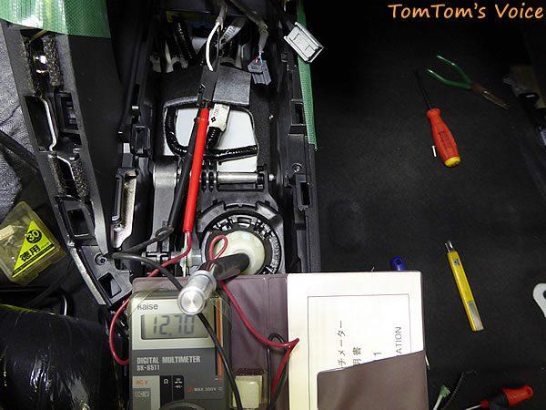 S660のシガーライター配線をテスターでチェックする