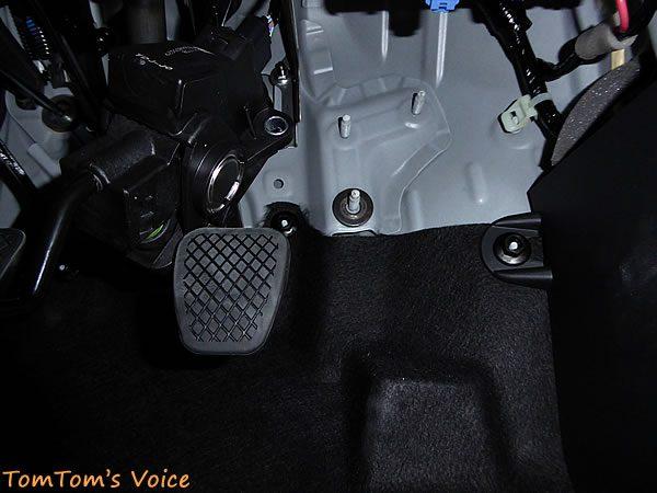 S660のアクセルペダル調整、ワッシャをかまして上向きにする
