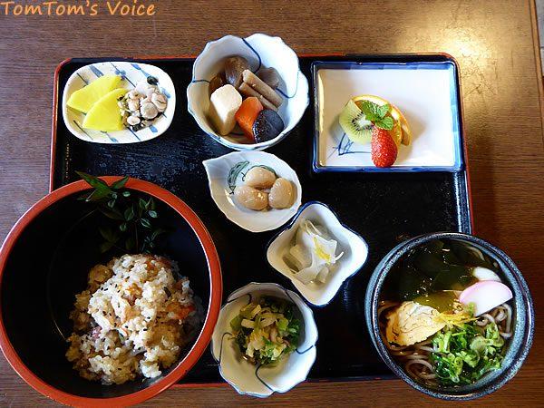 S660で行く関宿、会津屋さんのお昼の定食うまいっ