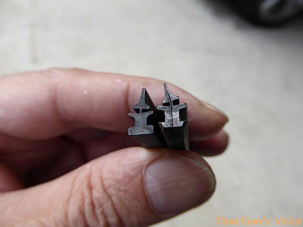 S660の純正ワイパーゴムとPIAAの147の断面を比較したところ