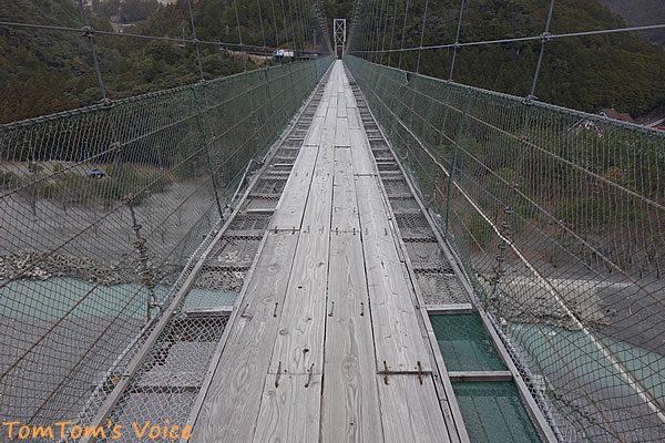S660で行く熊野路、十津川村の谷瀬の吊り橋の実際の状況