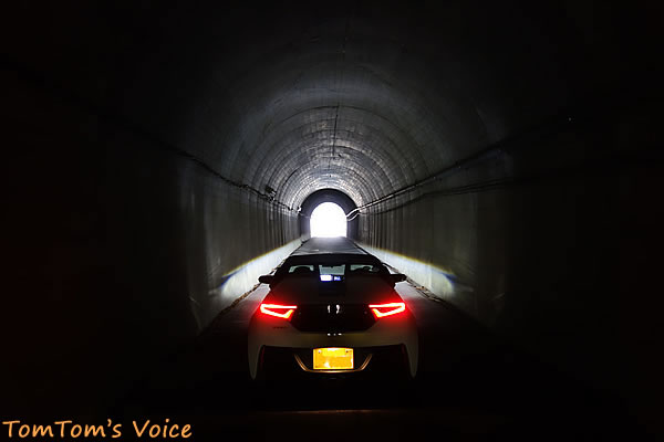 S660で行く熊野と紀伊半島、那智勝浦あたりの小さなトンネルにて
