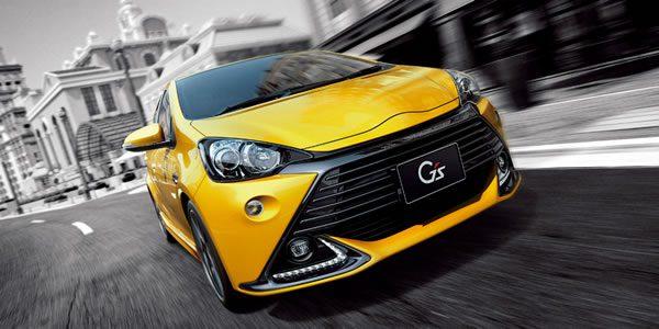 トヨタのアクアG'sの黄色
