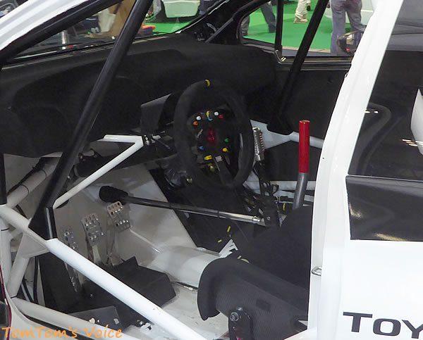 WRCヤリスのコックピット